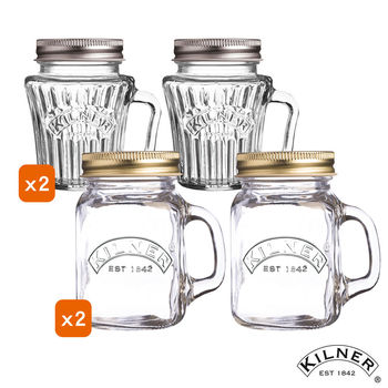 【KILNER】迷你復古玻璃罐四入組