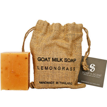 Thai Scent泰香 麻布袋山羊奶手工保養皂-檸檬草 270g
