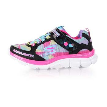 【SKECHERS】GAME KICKS 2 中女童運動鞋 - 童鞋 兒童 彩色