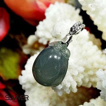 【SUMMER寶石】《買一送一》天然緬甸A貨翡翠項鍊-加贈平安扣(實物實拍-M6-68)