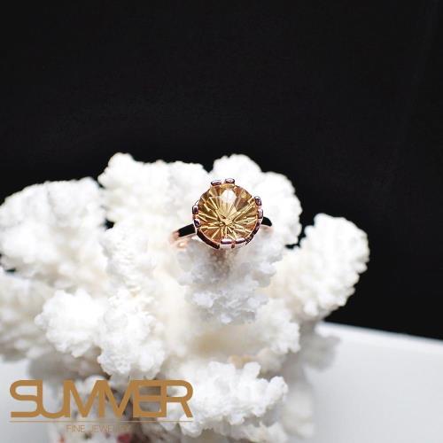 【SUMMER寶石】天然優雅迷人《黃水晶》設計款戒指 (P9-30)