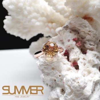 【SUMMER寶石】天然優雅迷人《黃水晶》設計款戒指 (P9-29)