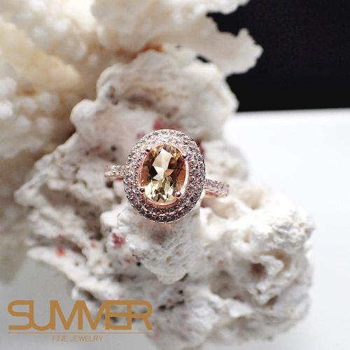 【SUMMER寶石】天然優雅迷人《黃水晶》設計款戒指 (P9-27)