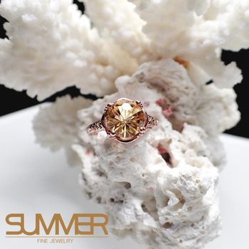 【SUMMER寶石】天然優雅迷人《黃水晶》設計款戒指 (P9-22)