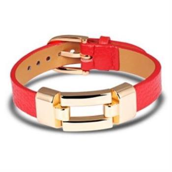 【米蘭精品】皮革手環鈦鋼手鍊情侶必備皮帶造女飾品(單件)2色73cq77