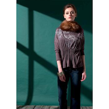 【龐吉 PANGCHI】波西米亞針織縮腰上衣 1423059-61.91