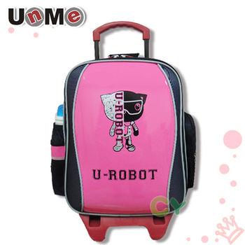 【UnMe】機器人可拆折疊式後背拉桿書包(桃粉紅)