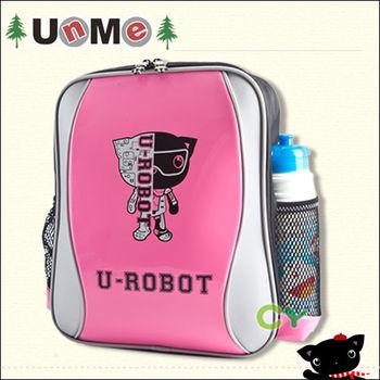 【UnMe】機器人S風單層後背書包(鏡桃紅)