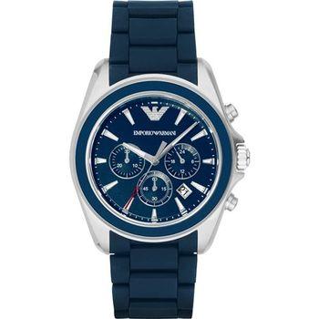 Emporio Armani Classic 雅爵計時錶-藍/44mm AR6068
