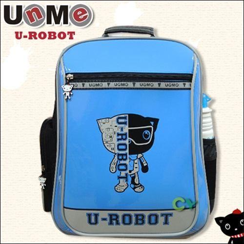 【UnMe】機器人直式雙層後背書包(藍色)
