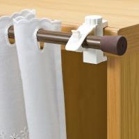 【促銷】日本LEC扣鎖式窗簾桿專用掛勾2包裝4枚組