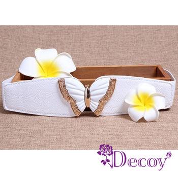 【Decoy】蝶戀之夏*立體弧形彈性腰封/三色可選