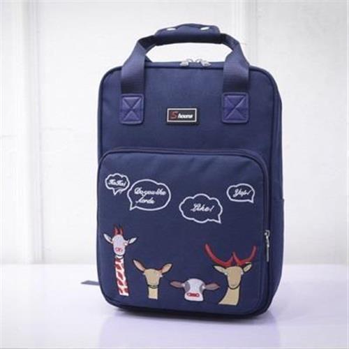 【米蘭精品】後背包印花雙肩包時尚休閒戶外旅遊2色73fd31