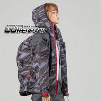 奧德蒙戶外機能特仕-城市遊俠背包款兩截式風雨衣-灰迷彩