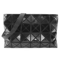 【ISSEY MIYAKE 三宅一生】BAOBAO幾何亮面方格4x6斜背包(黑)