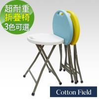 棉花田【海爾】多功能加強型耐重折疊椅-藍色