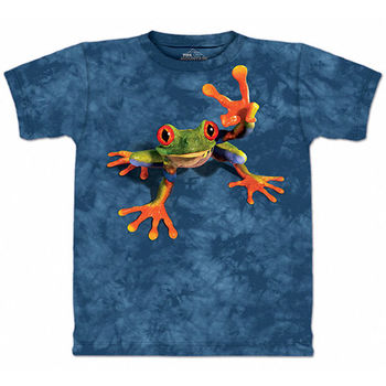 【摩達客】(預購)(男童/女童裝)美國進口 The Mountain 勝利蛙 純棉環保短袖 T恤