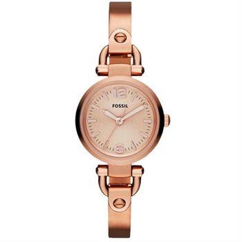 FOSSIL MINI 優雅小錶徑手環腕錶-玫塊金/27mm ES3268