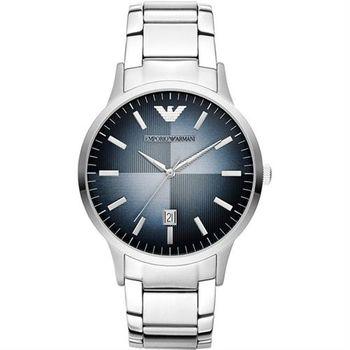 ARMANI 義式光輝時尚都會腕錶-藍/43mm AR2472
