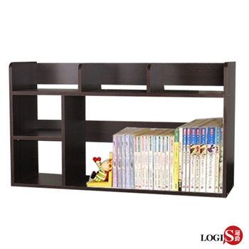 【LOGIS邏爵】可夢防潑水書架 桌上架 置物架 CD架(051)
