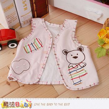 魔法Baby 寶寶外套 專櫃款薄鋪棉秋冬嬰幼兒背心外套~k60137