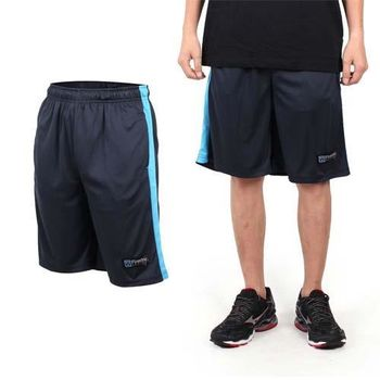 【FIRESTAR】男籃球褲-運動短褲 五分褲 休閒短褲 丈青藍