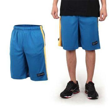 【FIRESTAR】男籃球褲-運動短褲 五分褲 休閒短褲 藍黃