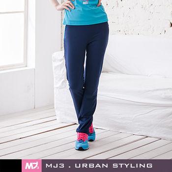 MJ3】後腰剪接小直筒運動長褲-女(深藍/綠)-263562283
