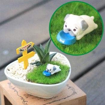 【Light+Bio】汪星人多肉陶瓷植栽-巴哥犬