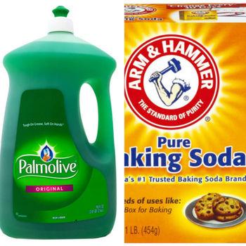 美國 Palmolive 棕欖濃縮洗碗精(90oz/2660ml*2)  美國 ArmHammer小蘇打粉(454g)*6