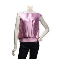 BALENCIAGA 走秀款特殊立體剪裁短版無袖上衣(粉紅-38)