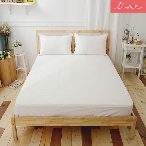 高透氣天絲防水床包式保潔墊-雙人