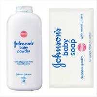【Johnsons 嬌生】嬰兒爽身粉/原味(500g)*3+原味滋潤嬰兒潤膚香皂(100g)*15