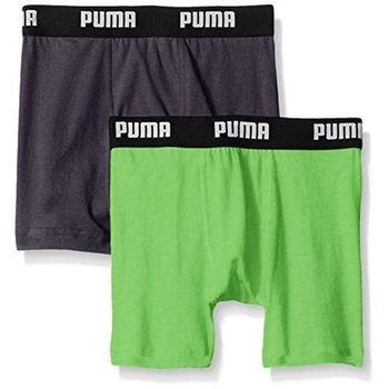 【Puma】2016男孩學生柔軟碳黑綠四角內著混搭2件組(預購)