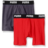 【Puma】2016男孩學生柔軟碳黑紅四角內著混搭2件組(預購)