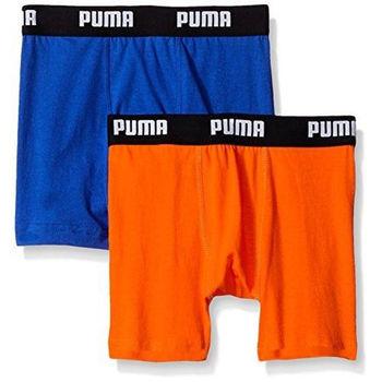 【Puma】2016男孩學生柔軟鈷藍橙四角內著混搭2件組(預購)