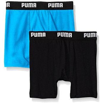 【Puma】2016男孩學生柔軟黑亮藍四角內著混搭2件組(預購)