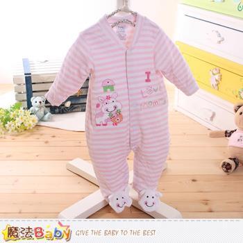 魔法Baby 包腳連身衣 法國設計細絲絨包屁衣~k60174