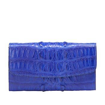 【M2nd】珍稀奢華精緻鱷魚包(珍稀皮革系列 藍)