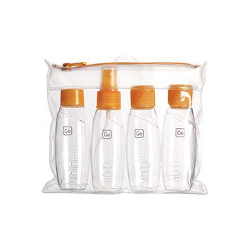 【Go Travel】登機專用分裝瓶四件組-橘色 indulgence 寵愛自己