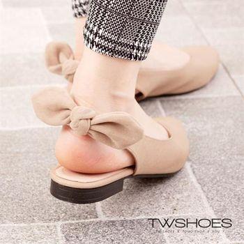 【TW Shoes】MIT後鏤空蝴蝶結尖頭平底娃娃鞋【K132AF4021】