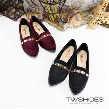【TW Shoes】MIT典雅金屬絨面紳士鞋(K120AF4011)