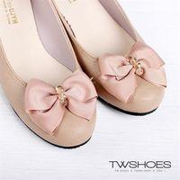 【TW Shoes】MIT優雅防潑水低跟包鞋【K110BF3033】