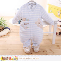 魔法Baby 包腳連身衣 法國設計細絲絨包屁衣~k60182