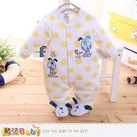 魔法Baby 包腳連身衣 法國設計細絲絨包屁衣~k60180