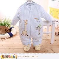 魔法Baby 包腳連身衣 法國設計細絲絨包屁衣~k60179