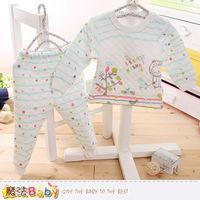 魔法Baby 寶寶居家套裝 專櫃款超厚三層棉極暖睡衣套裝~k60169