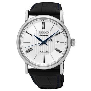 【SEIKO 精工】Premier 羅馬數字超薄機械腕錶(40mm/4R35-01C0P)