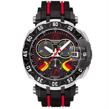 TISSOT 天梭 T-RACE STEFAN BRADL 限量計時腕錶-45mm T0924172705702
