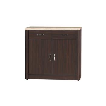 Bernice-文斯2.7尺石面碗盤收納餐櫃(下座)